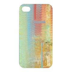 Unique Abstract In Green, Blue, Orange, Gold Apple Iphone 4/4s Premium Hardshell Case by theunrulyartist