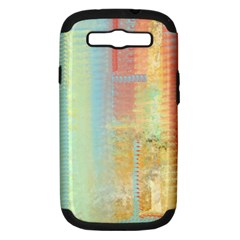Unique Abstract In Green, Blue, Orange, Gold Samsung Galaxy S Iii Hardshell Case (pc+silicone) by theunrulyartist