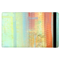 Unique Abstract In Green, Blue, Orange, Gold Apple Ipad 3/4 Flip Case by digitaldivadesigns