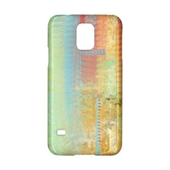 Unique Abstract In Green, Blue, Orange, Gold Samsung Galaxy S5 Hardshell Case