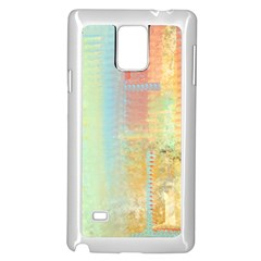Unique Abstract In Green, Blue, Orange, Gold Samsung Galaxy Note 4 Case (white) by theunrulyartist