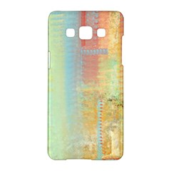 Unique Abstract In Green, Blue, Orange, Gold Samsung Galaxy A5 Hardshell Case  by theunrulyartist