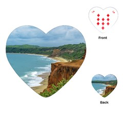 Aerial Seascape Scene Pipa Brazil Playing Cards (heart)  by dflcprints