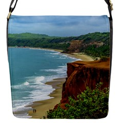 Aerial Seascape Scene Pipa Brazil Flap Messenger Bag (s) by dflcprints