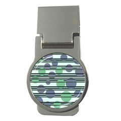 Green Simple Pattern Money Clips (round)  by Valentinaart