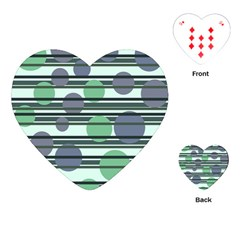 Green Simple Pattern Playing Cards (heart)  by Valentinaart