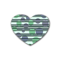 Green Simple Pattern Heart Coaster (4 Pack)  by Valentinaart