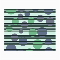 Green Simple Pattern Small Glasses Cloth (2 Side) by Valentinaart