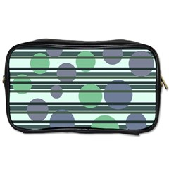 Green Simple Pattern Toiletries Bags by Valentinaart