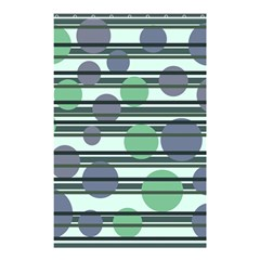 Green Simple Pattern Shower Curtain 48  X 72  (small)  by Valentinaart