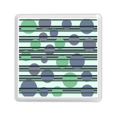 Green Simple Pattern Memory Card Reader (square)  by Valentinaart