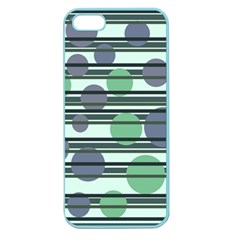 Green Simple Pattern Apple Seamless Iphone 5 Case (color) by Valentinaart