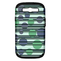 Green Simple Pattern Samsung Galaxy S Iii Hardshell Case (pc+silicone) by Valentinaart