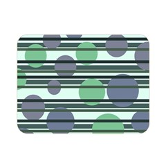 Green Simple Pattern Double Sided Flano Blanket (mini)  by Valentinaart