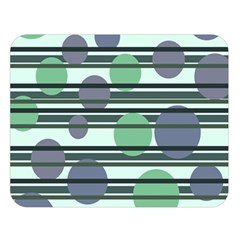 Green Simple Pattern Double Sided Flano Blanket (large)  by Valentinaart