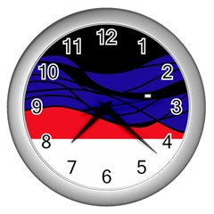 Cool Obsession  Wall Clocks (silver)  by Valentinaart