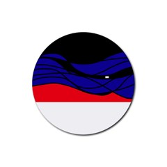 Cool Obsession  Rubber Coaster (round)  by Valentinaart