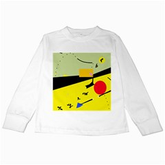 Party In The Desert  Kids Long Sleeve T Shirts by Valentinaart