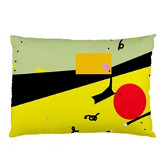 Party In The Desert  Pillow Case by Valentinaart
