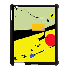 Party In The Desert  Apple Ipad 3/4 Case (black) by Valentinaart
