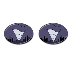 Tesla Cufflinks (oval) by Valentinaart