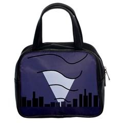 Tesla Classic Handbags (2 Sides) by Valentinaart