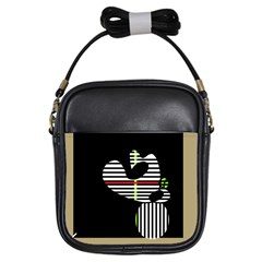 Abstract Art Girls Sling Bags by Valentinaart