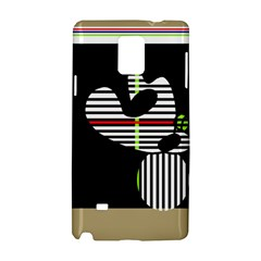 Abstract Art Samsung Galaxy Note 4 Hardshell Case by Valentinaart
