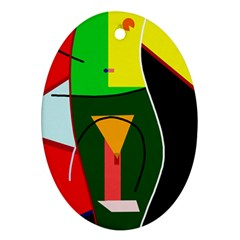 Abstract Lady Ornament (oval)  by Valentinaart