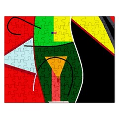 Abstract Lady Rectangular Jigsaw Puzzl by Valentinaart