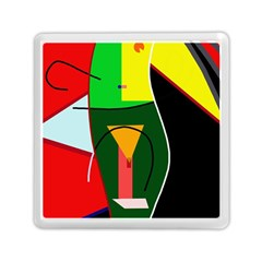Abstract Lady Memory Card Reader (square)  by Valentinaart