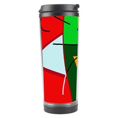 Abstract Lady Travel Tumbler by Valentinaart