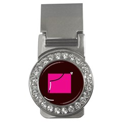 Pink Square  Money Clips (cz)  by Valentinaart