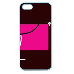 Pink Square  Apple Seamless Iphone 5 Case (color) by Valentinaart