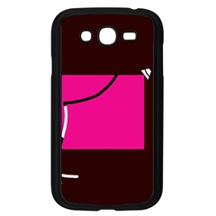 Pink Square  Samsung Galaxy Grand Duos I9082 Case (black) by Valentinaart
