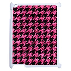 Houndstooth1 Black Marble & Pink Marble Apple Ipad 2 Case (white) by trendistuff