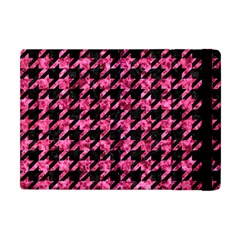 Houndstooth1 Black Marble & Pink Marble Apple Ipad Mini Flip Case by trendistuff