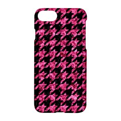 Houndstooth1 Black Marble & Pink Marble Apple Iphone 7 Hardshell Case by trendistuff