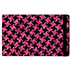 Houndstooth2 Black Marble & Pink Marble Apple Ipad 2 Flip Case by trendistuff