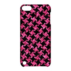 Houndstooth2 Black Marble & Pink Marble Apple Ipod Touch 5 Hardshell Case With Stand by trendistuff