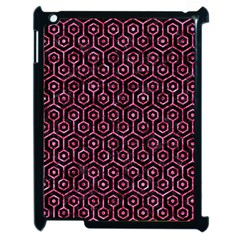 Hexagon1 Black Marble & Pink Marble Apple Ipad 2 Case (black) by trendistuff