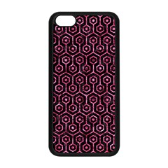 Hexagon1 Black Marble & Pink Marble Apple Iphone 5c Seamless Case (black) by trendistuff