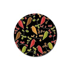 Flowers And Birds  Magnet 3  (round) by Valentinaart