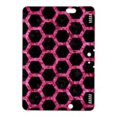 Hexagon2 Black Marble & Pink Marble Kindle Fire Hdx 8 9  Hardshell Case by trendistuff