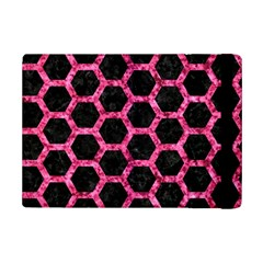 Hexagon2 Black Marble & Pink Marble Apple Ipad Mini 2 Flip Case by trendistuff