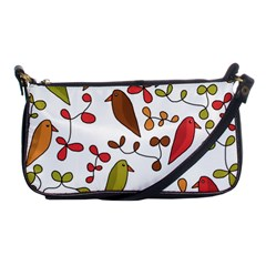 Birds And Flowers 3 Shoulder Clutch Bags by Valentinaart