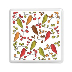 Birds And Flowers 3 Memory Card Reader (square)  by Valentinaart