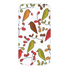 Birds And Flowers 3 Samsung Galaxy S4 I9500/i9505 Hardshell Case by Valentinaart