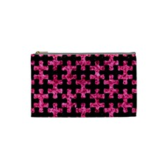 Puzzle1 Black Marble & Pink Marble Cosmetic Bag (small) by trendistuff