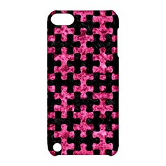Puzzle1 Black Marble & Pink Marble Apple Ipod Touch 5 Hardshell Case With Stand by trendistuff